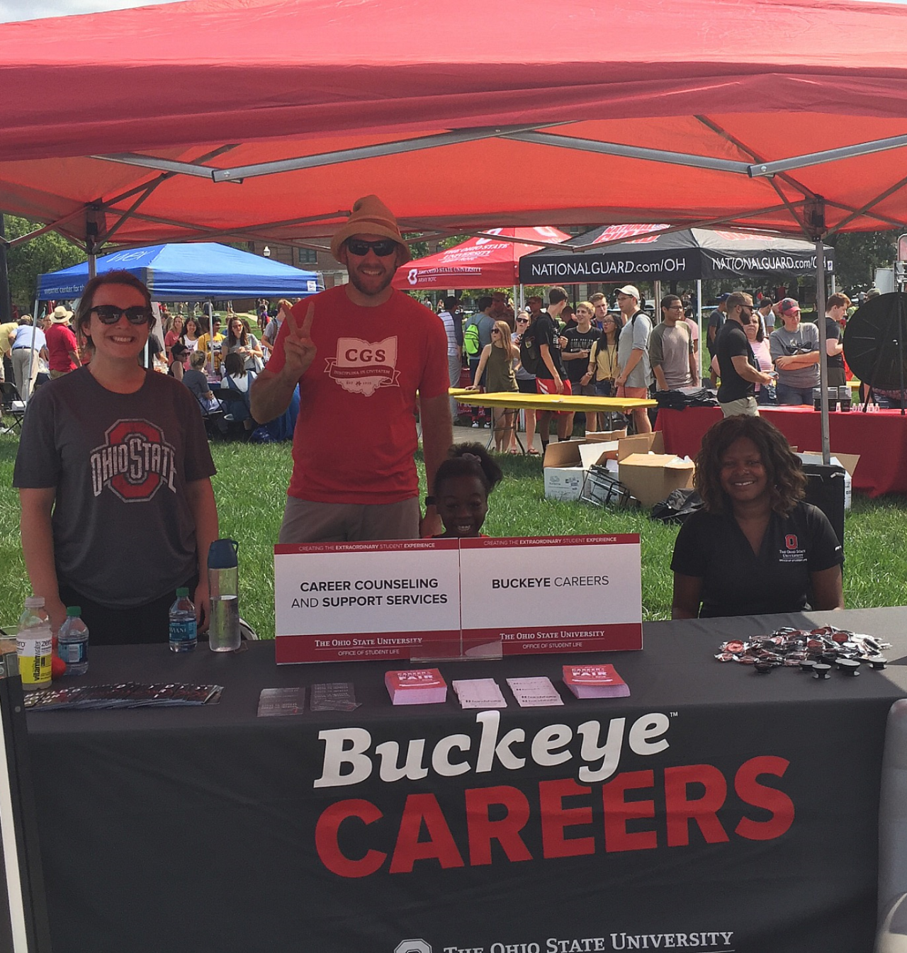 Buckeye Careers and Career Counseling and Support Services Staff at the Student Involvement Fair