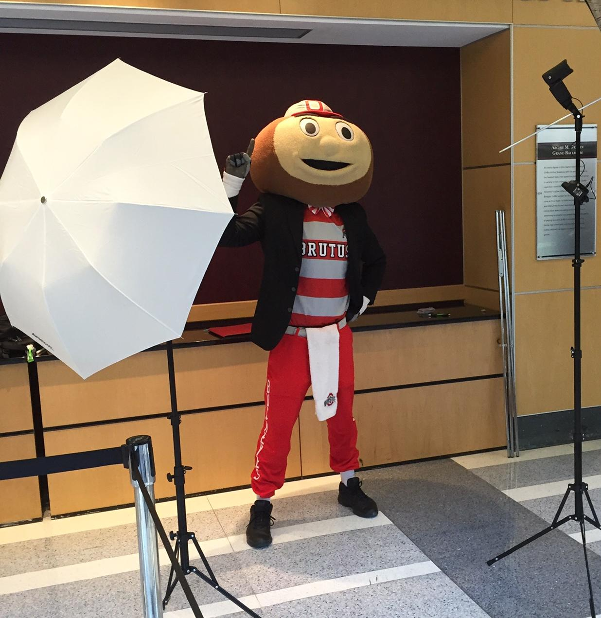 Brutus getting his professional headshot taken